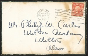 Sale Number 1165, Lot Number 217, 1902-08 Issue: Covers, 2c Shield2c Carmine, Ty. I (319), 2c Carmine, Ty. I (319)