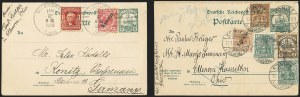 Sale Number 1165, Lot Number 221, 1902-08 Issue: Covers, 2c Shield2c Lake, Ty. II (319F), 2c Lake, Ty. II (319F)