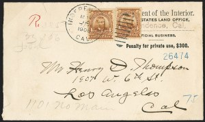 Sale Number 1165, Lot Number 223, 1902-08 Issue: Covers, 2c Shield1902-03 Issue, Official Business Covers, 1902-03 Issue, Official Business Covers
