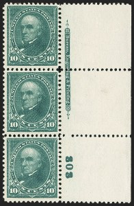 Sale Number 1165, Lot Number 26, 1894-98 Bureau Issue: Issued Stamps and Covers10c Dark Green (273), 10c Dark Green (273)