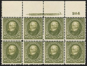 Sale Number 1165, Lot Number 35, 1894-98 Bureau Issue: Issued Stamps and Covers15c Olive Green (284), 15c Olive Green (284)