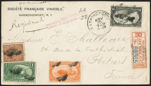 Sale Number 1165, Lot Number 67, 1898 Trans-Mississippi Issue: Covers$1.00 Trans-Mississippi (292), $1.00 Trans-Mississippi (292)