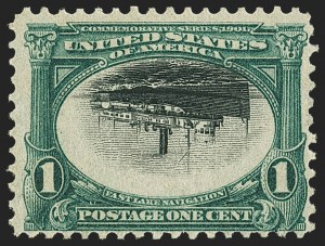 Sale Number 1165, Lot Number 87, 1901 Pan-American Issue: Inverts1c Pan-American, Center Inverted (294a), 1c Pan-American, Center Inverted (294a)