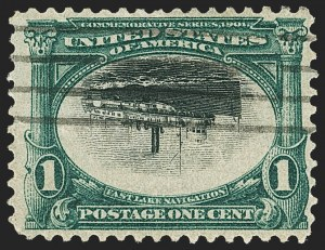 Sale Number 1165, Lot Number 88, 1901 Pan-American Issue: Inverts1c Pan-American, Center Inverted (294a), 1c Pan-American, Center Inverted (294a)