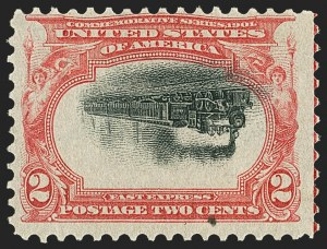Sale Number 1165, Lot Number 89, 1901 Pan-American Issue: Inverts2c Pan-American, Center Inverted (295a), 2c Pan-American, Center Inverted (295a)