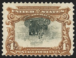 Sale Number 1165, Lot Number 91, 1901 Pan-American Issue: Inverts4c Pan-American, Center Inverted (296a), 4c Pan-American, Center Inverted (296a)