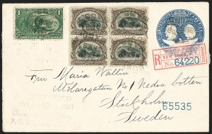 Sale Number 1165, Lot Number 98, 1901 Pan-American Issue: Covers8c Pan-American (298), 8c Pan-American (298)