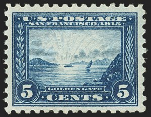 Sale Number 1166, Lot Number 1001, 1913-15 Panama-Pacific Issue (Scott 397-404)5c Panama-Pacific, Perf 10 (403), 5c Panama-Pacific, Perf 10 (403)