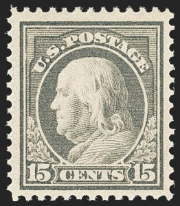 Sale Number 1166, Lot Number 1014, 1912-14 Washington-Franklin Issue (Scott 405-423)15c Gray (418), 15c Gray (418)