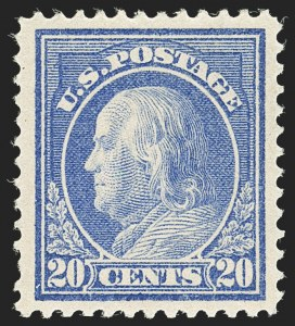 Sale Number 1166, Lot Number 1015, 1912-14 Washington-Franklin Issue (Scott 405-423)20c Ultramarine (419), 20c Ultramarine (419)