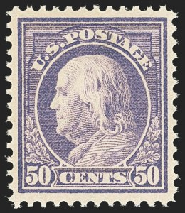 Sale Number 1166, Lot Number 1017, 1912-14 Washington-Franklin Issue (Scott 405-423)50c Violet (421), 50c Violet (421)