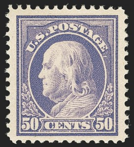 Sale Number 1166, Lot Number 1019, 1912-14 Washington-Franklin Issue (Scott 405-423)50c Violet (422), 50c Violet (422)