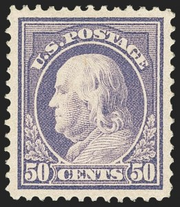 Sale Number 1166, Lot Number 1020, 1912-14 Washington-Franklin Issue (Scott 405-423)50c Violet (422), 50c Violet (422)