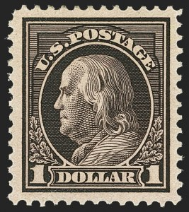 Sale Number 1166, Lot Number 1023, 1912-14 Washington-Franklin Issue (Scott 405-423)$1.00 Violet Brown (423), $1.00 Violet Brown (423)