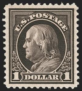 Sale Number 1166, Lot Number 1024, 1912-14 Washington-Franklin Issue (Scott 405-423)$1.00 Violet Brown (423), $1.00 Violet Brown (423)