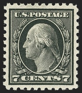 Sale Number 1166, Lot Number 1028, 1913-15 Washington-Franklin Issues (Scott 424-461)7c Black (430), 7c Black (430)