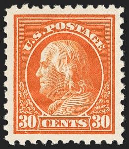 Sale Number 1166, Lot Number 1031, 1913-15 Washington-Franklin Issues (Scott 424-461)30c Orange Red (439), 30c Orange Red (439)