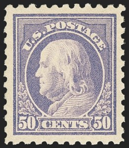 Sale Number 1166, Lot Number 1032, 1913-15 Washington-Franklin Issues (Scott 424-461)50c Violet (440), 50c Violet (440)