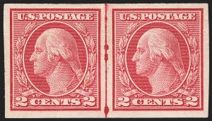 Sale Number 1166, Lot Number 1041, 1913-15 Washington-Franklin Issues (Scott 424-461)2c Carmine, Ty. I, Imperforate Coil (459), 2c Carmine, Ty. I, Imperforate Coil (459)