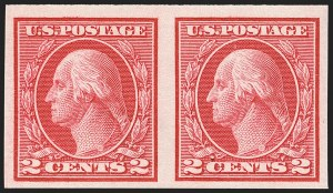 Sale Number 1166, Lot Number 1044, 1913-15 Washington-Franklin Issues (Scott 424-461)2c Carmine, Ty. I, Imperforate Coil (459), 2c Carmine, Ty. I, Imperforate Coil (459)