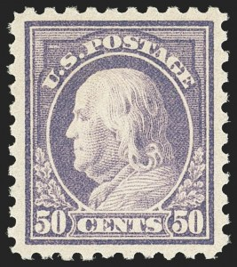 Sale Number 1166, Lot Number 1061, 1916-17 Issues (Scott 462-480)50c Light Violet (477), 50c Light Violet (477)