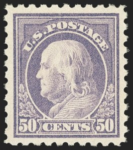 Sale Number 1166, Lot Number 1062, 1916-17 Issues (Scott 462-480)50c Light Violet (477), 50c Light Violet (477)