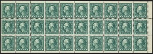 Sale Number 1166, Lot Number 1069, 1917-20 Issues including A.E.F. Panes (Scott 481-499f)1c Green, A.E.F. Booklet Pane (498f), 1c Green, A.E.F. Booklet Pane (498f)