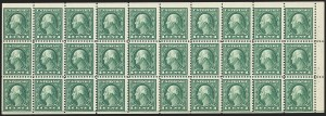 Sale Number 1166, Lot Number 1070, 1917-20 Issues including A.E.F. Panes (Scott 481-499f)1c Green, A.E.F. Booklet Pane (498f), 1c Green, A.E.F. Booklet Pane (498f)