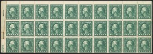 Sale Number 1166, Lot Number 1071, 1917-20 Issues including A.E.F. Panes (Scott 481-499f)1c Green, A.E.F. Booklet Pane (498f), 1c Green, A.E.F. Booklet Pane (498f)