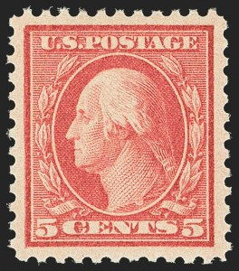 Sale Number 1166, Lot Number 1082, 1917-20 Issues (Scott 498-524)5c Rose, Error (505), 5c Rose, Error (505)