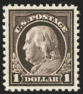 Sale Number 1166, Lot Number 1090, 1917-20 Issues (Scott 498-524)$1.00 Violet Brown (518), $1.00 Violet Brown (518)