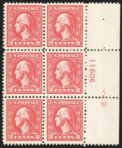 Sale Number 1166, Lot Number 1102, 1918-20 Offset Printing Issues (Scott 525-536)2c Carmine, Ty. VI (528A), 2c Carmine, Ty. VI (528A)