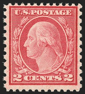 Sale Number 1166, Lot Number 1114, 1919-20 Issues (Scott 537-550)2c Carmine Rose, Ty. II, Rotary Perf 11 x 10 (539), 2c Carmine Rose, Ty. II, Rotary Perf 11 x 10 (539)