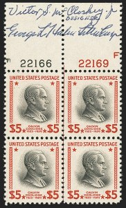 Sale Number 1166, Lot Number 1174, 1925 and Later Issues (Scott 628-1529)$5.00 Presidential (834), $5.00 Presidential (834)
