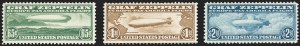 Sale Number 1166, Lot Number 1214, Air Post, cont. (C13-C15, later)65c-$2.60 Graf Zeppelin (C13-C15), 65c-$2.60 Graf Zeppelin (C13-C15)