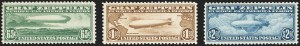 Sale Number 1166, Lot Number 1216, Air Post, cont. (C13-C15, later)65c-$2.60 Graf Zeppelin (C13-C15), 65c-$2.60 Graf Zeppelin (C13-C15)