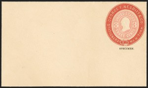 Sale Number 1166, Lot Number 1255, Parcel Post, Carrier, Postal Stationery3c Pink on Buff entire, Red Nesbitt Advertising Collar (Undersander E26Go), 3c Pink on Buff entire, Red Nesbitt Advertising Collar (Undersander E26Go)