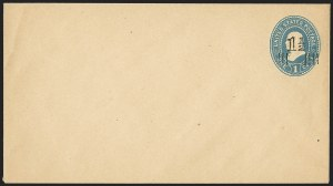 Sale Number 1166, Lot Number 1256, Parcel Post, Carrier, Postal Stationery1-1/2c on 1c Blue on Manila, entire (U507B), 1-1/2c on 1c Blue on Manila, entire (U507B)