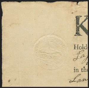 Sale Number 1166, Lot Number 1358, Revenues: Embossed Revenue Stamped Paper2p Massachusetts (RM2), 2p Massachusetts (RM2)