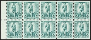 Sale Number 1166, Lot Number 1381, Savings Stamps25c Blue Green, Savings, Booklet Pane (S2a), 25c Blue Green, Savings, Booklet Pane (S2a)