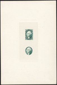 Sale Number 1166, Lot Number 501, Essays, Proofs and SpecimensNew York N.Y., 5c Green, Large Die Essay on India (9X1-E1a), New York N.Y., 5c Green, Large Die Essay on India (9X1-E1a)