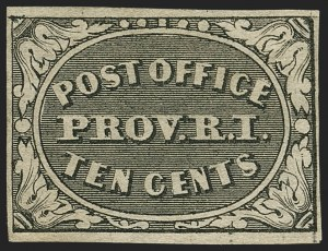 Sale Number 1166, Lot Number 544, Postmasters' ProvisionalsProvidence, Rhode Island, 10c Gray Black (10X2), Providence, Rhode Island, 10c Gray Black (10X2)