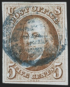 Sale Number 1166, Lot Number 550, 5c 1847 Issue (Scott 1)5c Red Brown (1), 5c Red Brown (1)