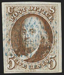 Sale Number 1166, Lot Number 561, 5c 1847 Issue (Scott 1)5c Orange Brown (1b), 5c Orange Brown (1b)