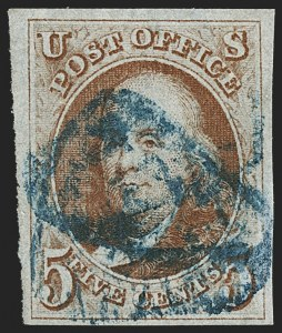 Sale Number 1166, Lot Number 562, 5c 1847 Issue (Scott 1)5c Orange Brown (1b), 5c Orange Brown (1b)