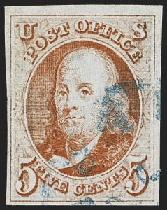 Sale Number 1166, Lot Number 563, 5c 1847 Issue (Scott 1)5c Orange Brown (1b), 5c Orange Brown (1b)