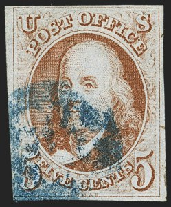 Sale Number 1166, Lot Number 567, 5c 1847 Issue (Scott 1)5c Orange Brown (1b), 5c Orange Brown (1b)