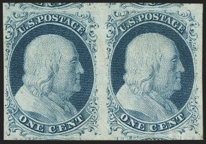 Sale Number 1166, Lot Number 591, 1c-3c 1851-56 Issue (Scott 5A-11A)1c Blue, Ty. II (7), 1c Blue, Ty. II (7)