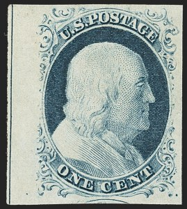 Sale Number 1166, Lot Number 599, 1c-3c 1851-56 Issue (Scott 5A-11A)1c Blue, Ty. IV (9), 1c Blue, Ty. IV (9)