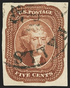Sale Number 1166, Lot Number 605, 5c-12c 1851-56 Issue (Scott 12-17)5c Red Brown (12), 5c Red Brown (12)